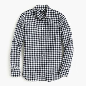 J.Crew Button Front Black & White Check Boy Shirt